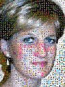 Wales Digital Art Originals - Diana Princess of Wales by Gilberto Viciedo