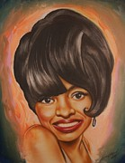 Music Legends Paintings - Diana Ross  by Terrence ONeal