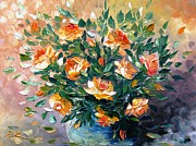 Romania Paintings - Diana s Roses by AmaS Art