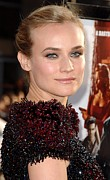 Updo Photo Posters - Diane Kruger At Arrivals For Premiere Poster by Everett