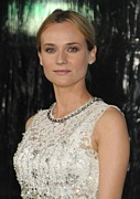 Diamond Earrings Posters - Diane Kruger At Arrivals For Unknown Poster by Everett