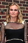 The Late Show With David Letterman Posters - Diane Kruger Wearing A Chanel Dress Poster by Everett