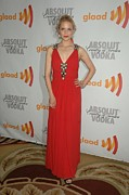 Red Dress Posters - Dianna Agron At Arrivals For 21st Poster by Everett