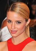 Hair Slicked Back Posters - Dianna Agron At Arrivals For Alexander Poster by Everett