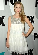 White Dress Prints - Dianna Agron At Arrivals For Fox Tca Print by Everett