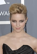 Drop Earrings Metal Prints - Dianna Agron At Arrivals For The 53rd Metal Print by Everett
