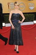 Strapless Dress Photo Posters - Dianna Agron Wearing A Chanel Dress Poster by Everett