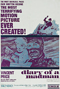 Horror Movies Framed Prints - Diary Of A Madman, Right Of Center Framed Print by Everett