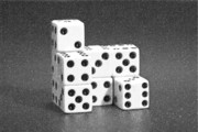 Board Game Metal Prints - Dice Cubes I Metal Print by Tom Mc Nemar