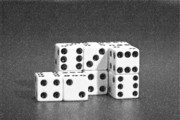 Game Photo Prints - Dice Cubes II Print by Tom Mc Nemar