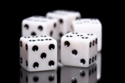 Board Game Photo Prints - Dice I Print by Tom Mc Nemar