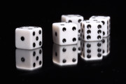 Board Game Photo Metal Prints - Dice II Metal Print by Tom Mc Nemar