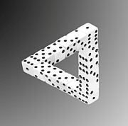 Number 3 Prints - Dice Illusion Print by Shane Bechler