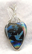 Jewelry Glass Art Originals - Dichroic Hummingbirds by Linda Ray