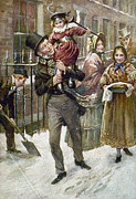 London Painting Prints - Dickens: A Christmas Carol Print by Granger