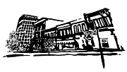 Restoration Drawings - Dickson Street In Fayetteville AR by Amanda  Sanford