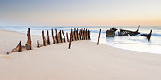 Shipwreck Prints - Dicky Beach Print by Visual Clarity Photography