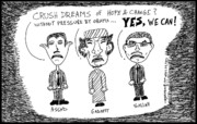 Jokes Drawings Originals - Dictators Have Dreams from their Fathers too by Yasha Harari