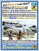 St. Augustine Mixed Media Posters - Did Ponce Land Here? Poster by Warren Clark