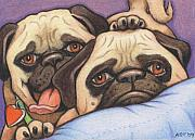 Pet Pug Art - Did Someone Say Cookie by Amy S Turner
