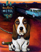Motel Painting Prints - Did You Forget Something Print by Leah Saulnier The Painting Maniac