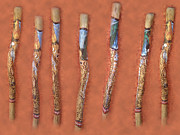 Aboriginal Art Paintings - Didgeridoo by Janice T Keller-Kimball