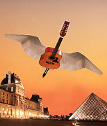 Flying Guitars Posters - Didnt We Almost Have It All Poster by Eric Kempson