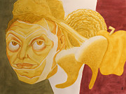 Diego Rivera Originals - Diego Rivera as Cabbage by Jeff Chase