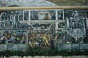 Rivera Framed Prints - Diego Rivera mural Framed Print by Linda Nordquist