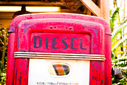 Industrial Background Posters - Diesel pump Poster by Tom Gowanlock