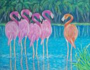 Flamingos Originals - Different But Alike by Susan DeLain