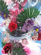 Floral Glass Art Metal Prints - Different Kind Of Art Metal Print by HollyWood Creation By linda zanini