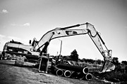 Heavy Equipment Framed Prints - Digger Framed Print by Michel Soucy