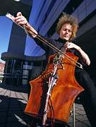 Mit Posters - Digital Cello Poster by Volker Steger