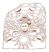 The Past Digital Art - Digital Illustration Of Mayan Stele Depicting The God Quetzalcoatl As The Morning Star by Dorling Kindersley