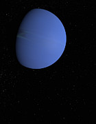 Digitally Generated Image Digital Art - Digital Illustration Of Neptune by Jason Reed