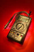 Electric Current Prints - Digital Multimeter Print by Mark Sykes