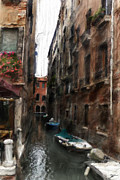 Canal Mixed Media - Digital Oil Paining Venice Canal Italy by H G Mielke