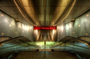 Escalator Framed Prints - Digital Underground Framed Print by Yhun Suarez