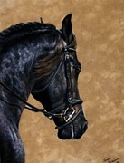 Friesian Metal Prints - Dignified Metal Print by Loreen Pantaleone