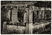 Old And New Prints - Dilapidated House Print by David Patterson