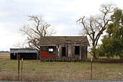 Old Houses Posters - Dilapidated Old Farm House . 7D10341 Poster by Wingsdomain Art and Photography