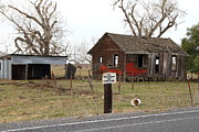 Farm Houses Posters - Dilapidated Old Farm House . No Trespassing . No Hunting . 7D10335 Poster by Wingsdomain Art and Photography