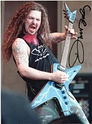 Guitarist Photo Posters - Dimebag Darrell Autograph Photo  Poster by Charles Johnson Jr
