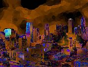 Los Angeles Skyline Digital Art - Dimensia by Steven Santee