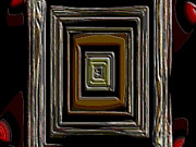 Brown Tones Framed Prints - Dimensional Door Framed Print by Susan Keyser Rodriguez