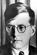 Composer Photos - Dimitri Shostakovich,  Russian Composer by Everett