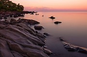 Lake Superior Photos - Dimming of the Day by Mary Amerman