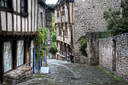 Medieval City Photos - Dinan Brittany France by Ann Garrett