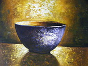 Pottery Paintings - Diner Bowl by Amy West
